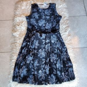 Charter Club Women's Velvet Midi Dress Black Flor